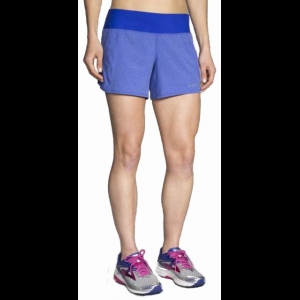 brooks chaser 5 inch running short - women's-heather cobalt-medium- Save 25% Off -