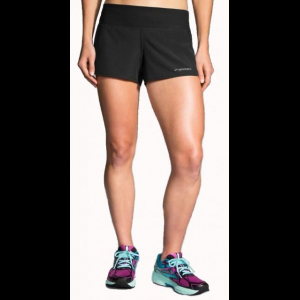 brooks chaser 3 inch running short - women's-black-medium- Save 25% Off -