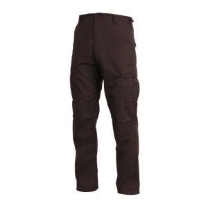 rothco swat cloth bdu pants, brown, small- Save 22% Off - Rothco Women's Apparel Clothing Swat Cloth BDU Pants Brown Small 5985BrownS. The durable 65percent Poly 35percent Cotton Rip-Stop material makes the BDU's ideal for all climates. The SWAT Cloth is breathable in the summer and wind resistant in the winter. The fabric will resists fading tearing abrasions wrinkling and shrinking. Additional features of the pants include reinforced seats and knees adjustable waist tabs and drawstring bottom.