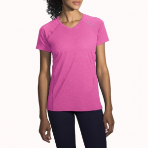 brooks distance short sleeve running shirt - women's-heather petal-large- Save 25% Off - Brooks Run Distance Short Sleeve Ning Shirt - Women's-Heather Petal-Large 221178685. The semi-fitted cut and rainbow of available colors add style and versatility.