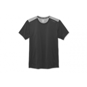 brooks distance short sleeve running shirt - men's-heather black/heather sterling-medium- Save 25% Off - Brooks Distance Short Sleeve Ning Shirt - Men's-Heather Black/Heather Sterling-Medium. The men's Distance Short Sleeve Running Shirt features odor-resistant fabric and a relaxed fit to keep you totally comfortable while you power through any workout.