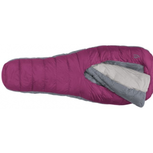 sierra designs backcountry bed 600f 3 season sleeping bag-boysenberry-women's-regular- Save 25% Off - Sierra Designs Backcountry Bed 600F 3 Season Sleeping Bag-Boysenberry-Women's-Regular. Free of extraneous hardware the versatile oversized comforter is free to be tucked into or pulled out of the bag opening to be tucked into or pulled out of the bag opening - adapting to any of the sleeping positions you're used to at home - back stomach or side. Adjusting to variable temperatures throughout the nigh is equally intuitive. Tuck the sides of the comforter snugly around and beneath you when the temperature drops or pull out and tuck back the comforter during warmer nights. It's the ultimate in flexibility and comfort. Designed to eliminate the headaches of the traditional mummy-style sleeping bag the Backcountry Bed performs more like your bed at home to provide you with the best night's sleep you've ever had at camp.