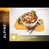 Alpine Aire Foods Rice and Beans Bowl with Chicken, 6 oz