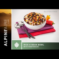Alpine Aire Foods Rice and Beans Bowl with Vegetables, 6 oz