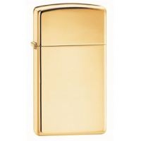Zippo Classic Style Slim Lighter, High Polish Brass