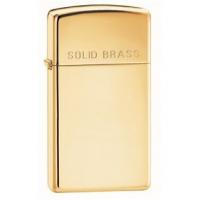 Zippo Classic Style Slim Lighter w/ Solid Brass Engraved, High Polish Brass
