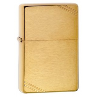 Zippo 1937 Vintage Series Classic Style Lighter, Brushed Brass