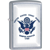 Zippo Coast Guard Street Chrome Lighter ZO