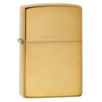 Zippo Classic Style Brushed Brass Lighter w/ Solid Brass Engraving