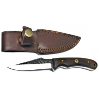 Titan International Knives Fixed Blade Knife, 4in, Carbon Steel, Wharncliffe, RoseWood