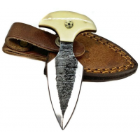 Titan International Knives Push Dagger Knife, 2.5in, Carbon Steel, Dagger, Camel Bone