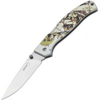Boker Plus Titan Drop Frazetta Folding Knife, 3.7in, 440C, Uncoated, Multicolored
