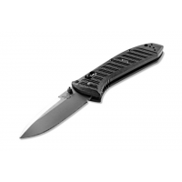Benchmade Presidio II Folding Knife, 3.72in, Drop Point, Black molded CF-Elite handle
