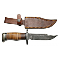 Titan Damascus Fixed Blade Knife 8.3in TD-098