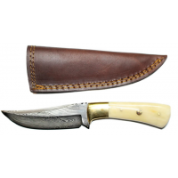 Titan Damascus Fixed Blade Knife 7.3in TD-100