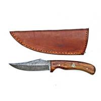 Titan Damascus Steel Skinner Knife, Old Timer Sharp finger Size/Rosewood Grip by TitanTD-177, 3.3in