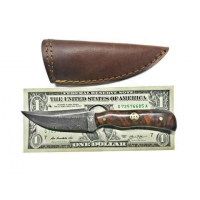 Titan Damascus Steel Skinning Knife, Mini Old Timer Mini Sharp Finger/Rosewood Grip by Titan TD-178, 3.1in