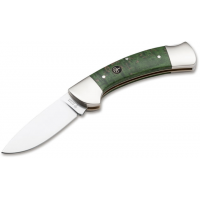 Boker USA 3000 Curly Birch Knife, Green, Small