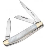 Boker USA Magnum Mini Pearl Stockman Knife, White, Small