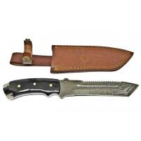 Titan Damascus Steel Fixed Knife 11in TD-039
