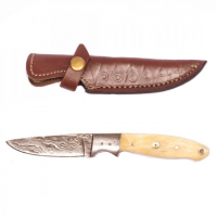 Titan Damascus Steel Fixed 8in Knife TD-003