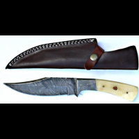 Titan Hand Forged Damascus Camping 10.5in KnifeTD-047