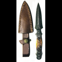 Titan Damascus Steel Fixed Knife 9in TD-054