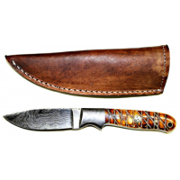 Titan Damascus Fixed Blade Knife 7.3in TD-102