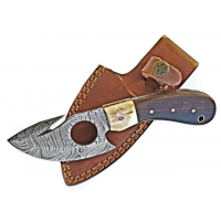 Titan Hand Forged Damascus Camping 7.2in Knife TD-006, TDK-6
