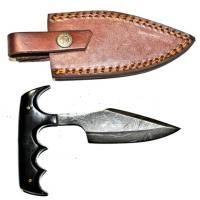 Titan Damascus Steel Fixed 6in Blade Knife TD-033