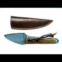 Titan Damascus Steel Fixed Knife 6in TD-046