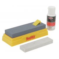 Smith's Consumer Products 2-Stone Sharpening Kit, Black