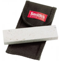 Smith's Consumer Products 4in. Arkansas Stone w/ Pouch, Gray/Black