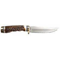 Uncle Henry 153UH Next Gen Golden Spike Fixed Blade Knife, 4.75in, 7Cr17Mov Stainless Steel Blade, 4.5in, Staglon Handle