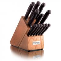 Cold Steel 14in Kitchen Knife Set, Black/Silver, 14in