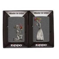 Zippo Death Cannot Stop True Love Iron Stone Lighter, Stone Iron