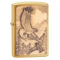 Zippo Golden Butterfly Classic Lighter, Satin Chrome