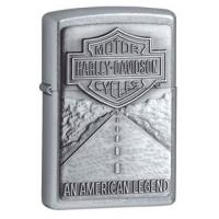 Zippo Harley Davidson Carbon Fiber Classic Style Lighter, Satin Chrome