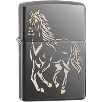 Zippo Running Horse Black Ice, Lighter ZO