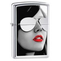 Zippo Sunglasses Classic Style Lighter, High Polish Chrome
