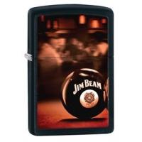 Zippo Jim Beam Pocket Lighter, Satin Chrome