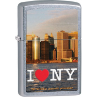 Zippo I love NY Street Chrome Lighter ZO
