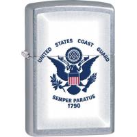 Zippo Coast Guard Street Chrome Lighter ZO