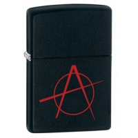Zippo Anarchy Classic Style Lighter, Black Matte