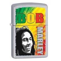 Zippo Bob Marley Lighter, Chrome Satin