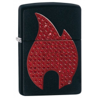 Zippo Zippo Flame Lighter, Chrome Satin