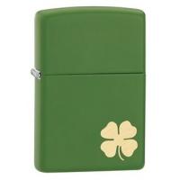 Zippo 4 Leaf Clover Classic Style Lighter, Moss Green Matte
