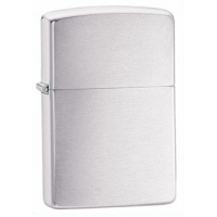 Zippo Armor Wall Chrome Classic Lighter, Brushed Chrome