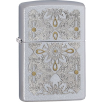 Zippo Classical Curve Satin Chrome Lighter ZO