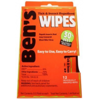 Adventure Medical Ben's 30 Tick and Insect Repellent Wipes - 12 Pack